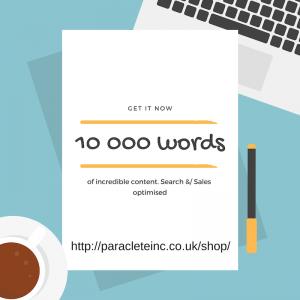 10 000 words sales or search optimised copy