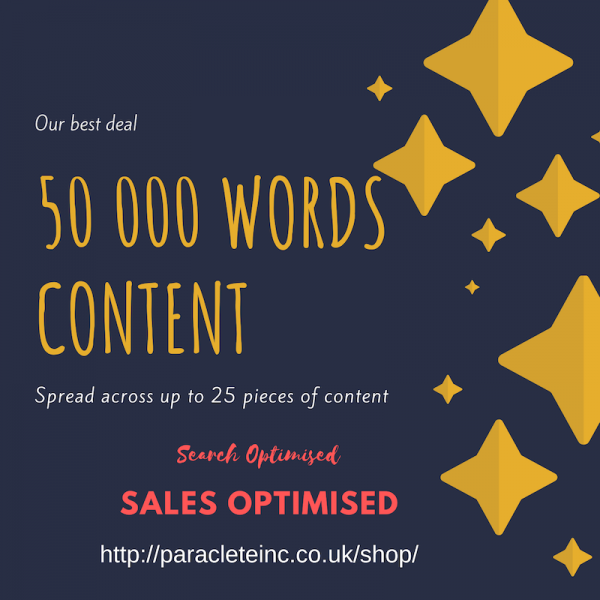 50 000 words search and sales optimised content
