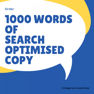 1000 words search optimised copy