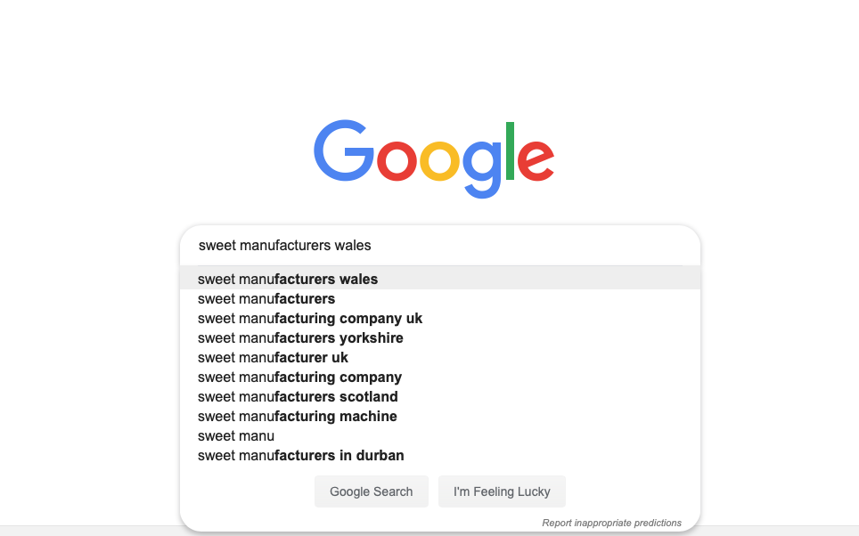 Starting your search on Google