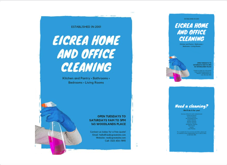 cleaning business leaflet template
