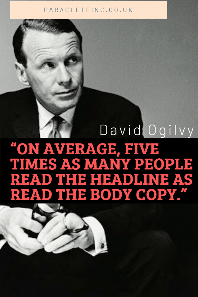 David Ogilvy headline quote