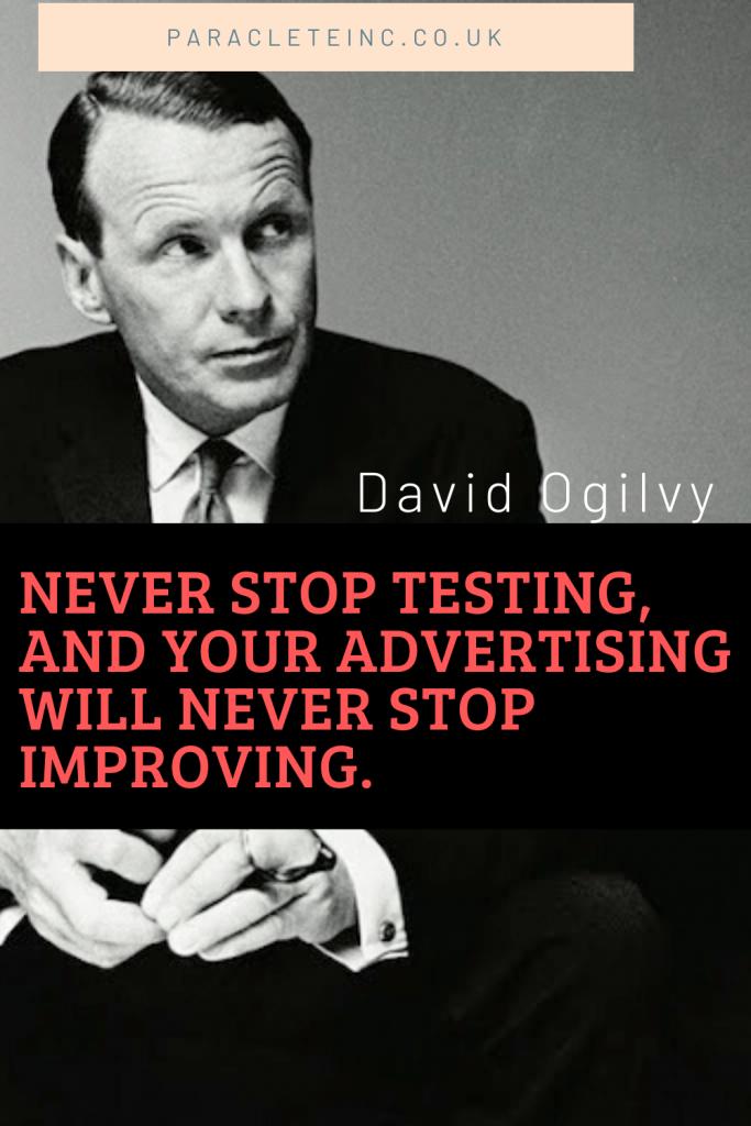 David Ogilvy testing quote